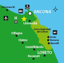 Cartina Marche Conero.B B Ancona Stelle Del Conero